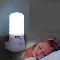 6LED Night Light Bedside Lamp EU US Plug-in Bedroom Aisle Kid Nursery Wall Light