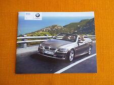 USA BMW 3er Cabrio E93 US Katalog Prospekt 328i 335i Cabriolet Convertible TOP