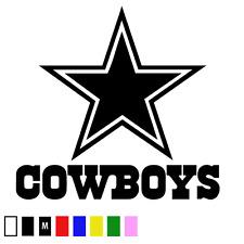 DALLAS COWBOYS Logo ~ Window WALL DECAL * Vinyl Car STICKER ~ SUPERIOR QUALITY