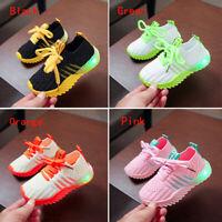 LED Luminous Shoes Children Boys Girls Light Up Sneakers Cute Trainers Kids j6