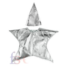 Christmas Kids Santa Nativity Costume Childrens Silver Star Fancy Dress Outfit