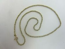 Solid 14K Yellow Gold Twisted Rope Chain 17.75 inch, 1.85 mm, 6.6 grams
