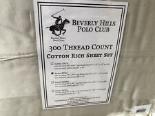cotton rich sheet set beverly hills polo club full ivory