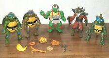 5 Lot Teenage Mutant Ninja Turtles Transforming Pizza Tossing Action Figurines
