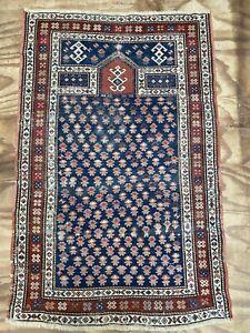 Antique Caucasian Shirvan Prayer Rug Carpet Size: 150x96 cm 4'11x3'2