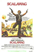 SCALAWAG MOVIE POSTER Original 1973 Folded 27x41 KIRK DOUGLAS Is A PIRATE !