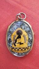 Tibetan Deity Pendant Blue MEDICINE BUDDHA Enamel Metal