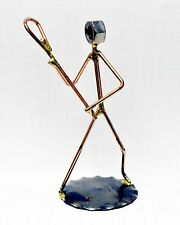 "390-Rock Creek Metal Craft Art. ""LACROSSE"" PLAYER..Handmade in the USA"
