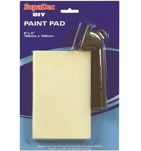 "SupaDec DIY Decorating Paint Pad with Handle 6"" x 4"" / 150mm x 100mm"