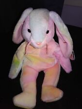 Ty Beanie Baby Hippie The Tie Dye Bunny * 1st Edition * With Tag Errors