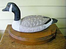 Carved Canada Goose on Decorative Wooden Plaque John Hugok Signed