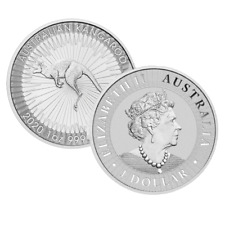 More details for 1 ounce 2020 australian kangaroo silver coin .999 perth mint