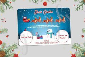 Personalised Christmas Eve Santa Treat Board Place Mats Xmas Gift Present #6