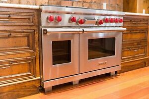 Wolf 48 Dual Fuel Range DF486G - 6 Burners and Infrared Griddle