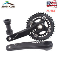 Double 2X10 Speed Crankset 104/64BCD 26/38T Chainring 170 MTB Bicycle Crank BB