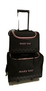 Set -Mary Kay Rolling Cosmetic Luggage- 1 Rolling Organizer,1 Tote Organizer
