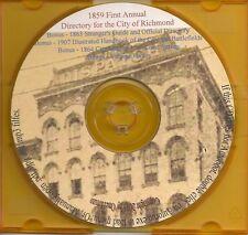 Richmond VA City Directory 1859 First Annual +Bonuses