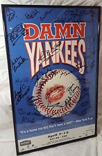 Cast Signed Marquee Poster Damn Yankees Musical 90's Revival Production Framed