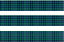 Flower of Scotland Tartan Pre Cut Edible Icing Cake Side Strips  Ribbon 3 strips