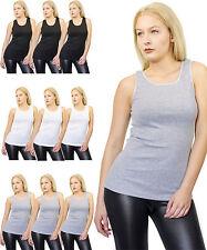 Damen Tank Top Unterhemd 3 ´er Pack Muskelshirt Shirt Achselshirt Top S bis XXXL