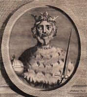 Portrait XVIIIe Otton III Othon Empereur Saint Empire Roi Francie Orientale Otto