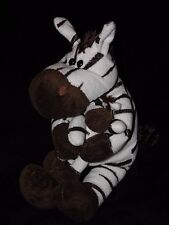 TESCO ZEBRA SOFT TOY COMFORTER WHITE BROWN STRIPE MOTHER AND BABY DOUDOU