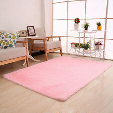 Fluffy Anti-Skid Shaggy Area Rug Yoga Carpet Home Bedroom Floor Dining Room Mat