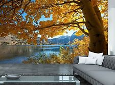 Autumn Lake Wall Mural Photo Wallpaper GIANT WALL DECOR Paper Poster Free Paste