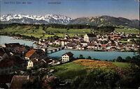 Bad Tölz Bayern Oberbayern 1933 Benediktenwand Isar Panorama gelaufen frankiert