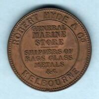 Australia Token . 1857 Hyde & Co - 1d.. Melbourne Vic..  aEF