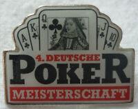 POKER 4. DEUTSCHE MEISTERSCHAFT 1996 TEILNEHMER PIN Top