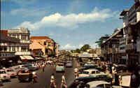 Pantjoran Djarkarta Indonesien ~1960/70 Shopping Centre Street Autos Cars AK