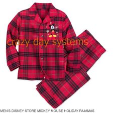 Disney store Mickey Mouse Plaid Men pajama set Christmas Holiday 2XL NEW
