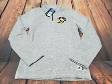 ADIDAS Men's PITTSBURGH PENGUINS  1/4 ZIP PULLOVER Sweater Sweat JACKET SMALL