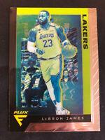 19-20 Panini Flux LeBron James GOLD Los Angeles Lakers MINT