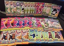 TY Beanie Babies LOT of ( 36 ) Glow In The Dark STICKER Cards Series 4 Free Ship