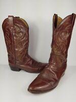 Dan Post DP2111R Western Boots Milwaukee Antique Brown Leather Men's size 11 D