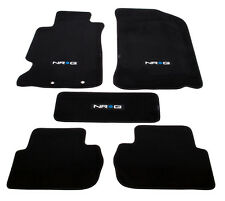 NRG Floor Carpet Mats Black Factory Fit Acura RSX 02-06 with NRG Logo