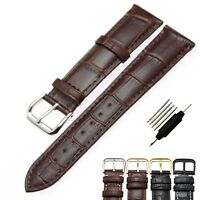 Vintage Genuine Leather Wrist watch Band Watch Strap Replacement18/19/20/22/24mm