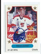 Steve Junker Signed 1991/92 7th Inning Sketch WHL Card #9