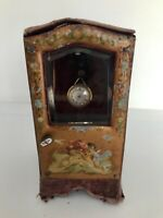 *Antique 1800s  French Sedan Chair Pocket Watch Holder Doll Box RARE *