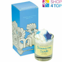 SHIMMERING SANDS PIPED CANDLE BOMB COSMETICS COCONUT BEACHY OZONIC SCENTED NEW