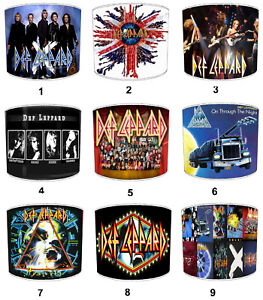 Def Leppard Designs Lampshades, Ideal To Match Wall Posters