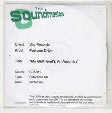 (HB880) Fortune Drive, My Girlfriend's An Arsonist - 2006 Reference CD