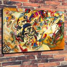 """Composition Vii By Wassily Kandinsky Printed Canvas Picture A1.30""""x20""""30mm Deep"""