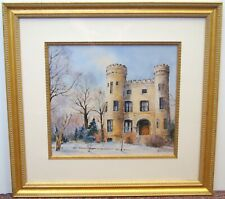 """Jack Simmerling """"Givins' Irish Castle"""" Signed Lithograph Print 20x21"""" B5303"""