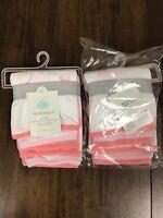 2 Pack Cloud Island Baby Lightweight 6pk Washcloth Set Pink Coral