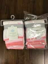 2 Pack Cloud Island Baby Lightweight 6pk Washcloth Set Pink Coral