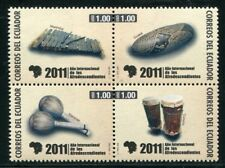Ecuador 2011 Musikinstrumente Musical Instruments Musik 3338-3341 Postfrisch MNH