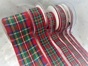 Berisfords ROYAL STEWART Tartan - Scottish Approved ribbon - 7 10 16 25 40 70mm